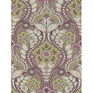 A Street Prints SCH12103 Night Bloom Damask Wallpaper, Grey, 20.5-Inch x 33 ft