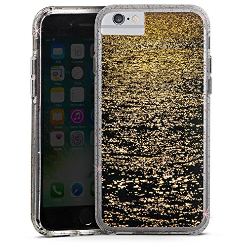 Apple iPhone 7 Plus Bumper Hülle Bumper Case Glitzer Hülle Meer Mer Ocean Bumper Case Glitzer rose gold