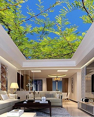 350 cmX 245 cm 3d-Wandbild Tapeten baum himmel Decke Individuelle fototapete stereoskopischen 3D-Decke Home Dekoration 3d wallpaper Wandbild, E