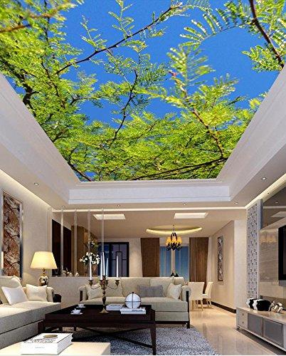 350 cmX 245 cm 3d-Wandbild Tapeten baum himmel Decke Individuelle fototapete stereoskopischen 3D-Decke Home Dekoration 3d wallpaper Wandbild, E (Decke Dekoration)