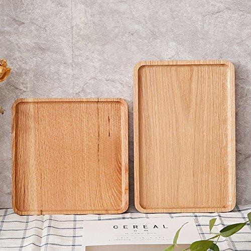 XBR Hartholz das Tablett des Tee, Tray, Tray, Eiche Frühstück, Das Brot des Rechteck Solide Holz Paletten 23: 23 * 2cm -