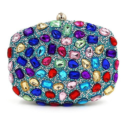 WYB Strass Abendtasche / Clutch Diamant / Party Fashion Messenger Bag / Handtasche 5