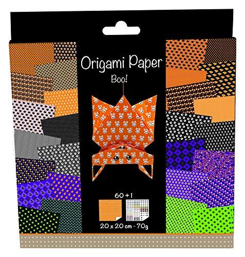 04O Origami Papier Set (20 x 20 cm, 60 Blatt, 70 g) schwarz / halloween ()