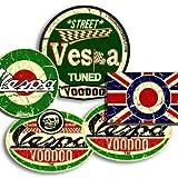 Vespa-Aufkleber X 4plus Union-Jack-Aufkleber gratis