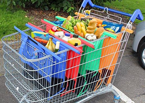 Shopping Bag Storage Pockets Reusable Strong