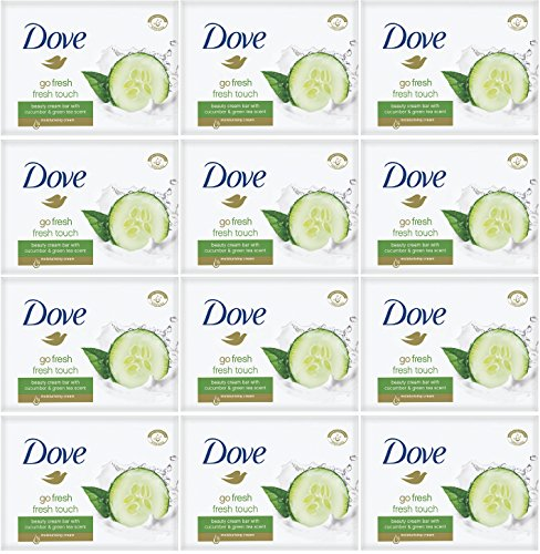 Dove Go Fresh Fresh Touch Cucumber & Green Tea Scent - Bar Soap (12 PACK)