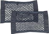 Lescars Kofferraumnetz: 2er-Set Kofferraum-Gepäcknetz-Taschen
