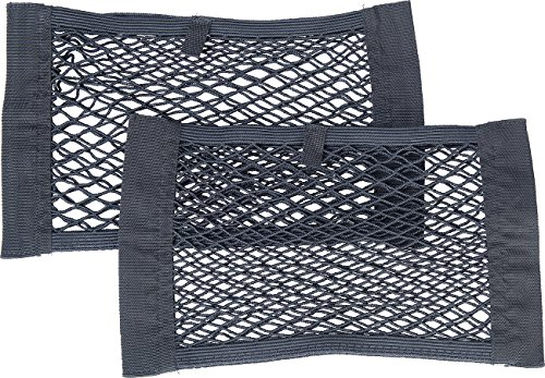 Lescars Kofferraumnetz: 2er-Set Kofferraum-Gepäcknetz-Taschen, 25 x 40 cm, Elastisch (Gepäcknetz Auto Kofferraum)
