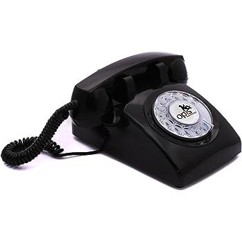 Telefono stile retro: Opis 60s cable, design vintage anni sesanta con disco combinatore (nero)
