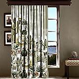 LaModaHome Luxus Fenster Vorhang für Wohnzimmer/Schlafzimmer/100% Polyester/pflegeleicht/Größe (140x 260,1cm) Colorful Zeichnen gefüttert Blume Natur Kaktus Pusteblume Multi Varianten in Store.