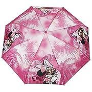 Ombrello Minnie/Topolino Perletti - Ombrello bambina/bambino pieghevole - Ombrello bimba/bimbo Disney - Apertura manuale - Diametro 89 cm