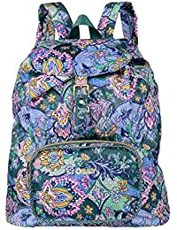 Oilily French Paisley Folding Classic Backpack Emerald