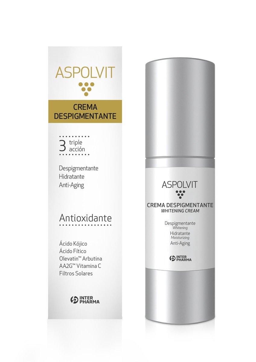 ASPOLVIT – Crema despigmentante y antioxidante facial con vitaminas, aloe vera y ácido cítrico. Elimina las manchas de…