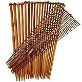 20 Paar Holz Verschiedene Stärke 2-12mm Stricknadeln Nadelspitzen 40cm Lang