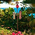 Pötschke Ambiente Rosenstab mit Wetterstation, rot von Pötschke Ambiente bei Du und dein Garten