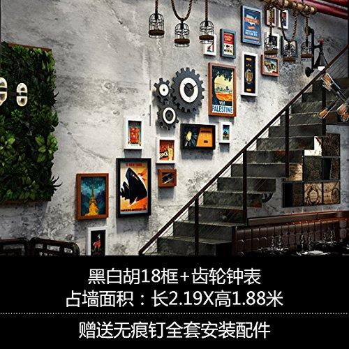 Industriales Cuadro Escaleras pared Galerie Art Cafe-Style