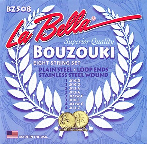 La Bella BZ508 Bouzouki (Stainless Steel Wound) 8-string