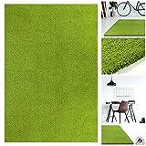 Handgefertigter Extrem Weicher Handtuft Teppich Einfarbig in Apfel-Grün   Hochwertige Oeko-Tex Teppiche geeignet auch als Kinderteppiche und Babyteppiche   Flauschiger Uni Hochflor Shaggy Läufer, Größe:130x190 cm