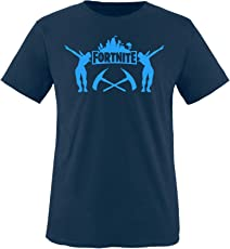 Comedy Shirts - Fortnite - Jungen T-Shirt - Rundhals, 100% Baumwolle, Top Basic Print-Shirt