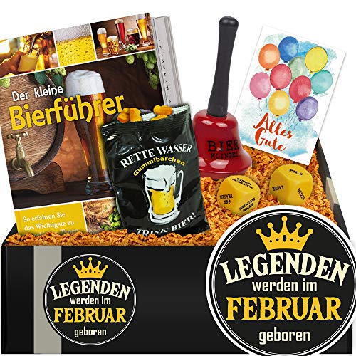 Legenden werden im Februar geboren | Geschenkbox Bierparty | Geburtstag Set