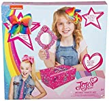 JoJo Siwa Bows Mosaic Vanity Set with Signature Rainbow JoJo Bow , Mirror and Keepsake Bow Box - Beautiful Accessories - Best Xmas Present Stocking Filler for Girls