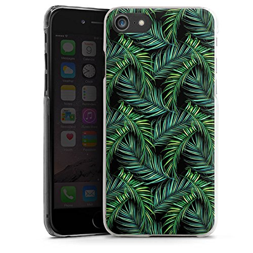 Apple iPhone X Silikon Hülle Case Schutzhülle Palmen dschungel Natur Hard Case transparent