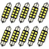 katur 10pcs pure white LED de bombillas C5W 36mm CANBUS para Samsung 2835SMD luz de la matrícula para BMW E39E36E30E46E90E60E53E70