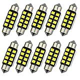 katur 10pcs pure white LED de bombillas C5W 36mm CANBUS para Samsung 2835SMD luz de la matrícula