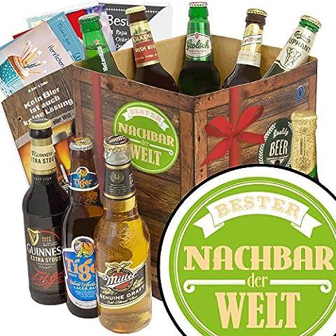 BESTER NACHBAR DER WELT Biergeschenk Set mit