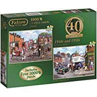 Falcon de luxe 40th Anniversary 40's and 50's Jigsaw Puzzles (2 x 1000-Piece)