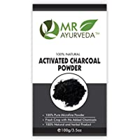 MR Ayurveda 100% Organic Activated Charcoal Powder for Face & Skin, 100 Gm