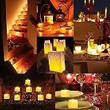 AMIR LED Kerzen, 12 LED Flammenlose Kerzen, Weihnachten LED Teelichter, Elektrische Teelichter Kerzen für Halloween, Weihnachten, Party, Bar, Hochzeit (Flicker Gelb) - 3