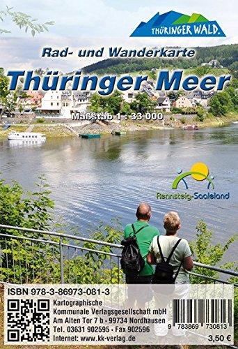 Thüringer Meer: Rad- und Wanderkarte