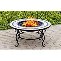 Centurion Supports Fireology BELUGA Garden Heater/Fire Pit/Coffee Table/Barbecue/Ice Bucket - Marble Finish