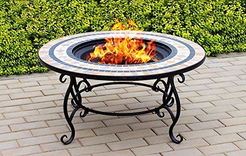 CENTURION Supports fireology Beluga Garten Heizung/Fire Pit/Couchtisch/Grill/Ice Bucket–Marmor-Finish