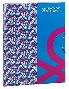 Benetton- Carpeta cartón Folio Gomas Solapas (SAFTA 511553068)