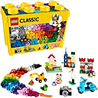 LEGO 10698 Classic Large Creative Brick Box Construction Set, Toy Storage, Fun Colourful Toy Bricks for Masters