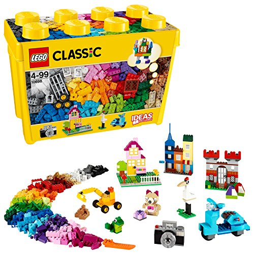 LEGO 10698 Classic Large Creative Brick Box Construction Set, Toy Storage, Fun Colourful Toy Bricks for Lego Masters