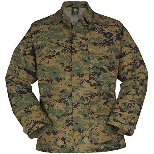Propper Herren Uniform BDU Mantel Digital Woodland größe XS Reg - Digital Woodland Bdu Shirt