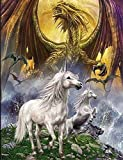 UNICORN AND DRAGON 3D UNFRAMED Holograph...