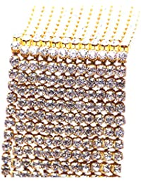 Fascigirl 32.8ft Rhinestone Chain DIY Sparkling Rhinestone Beaded Trim