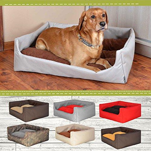 "Hundebett Hundekorb ""Aruba"" 100% Polyester Braun II M – 70cmx60 cm W204 10 - 2"