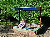 Promadino Sandkasten Nadine 140x140 mit Sonnensegel