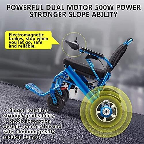 613mEoA6tWL - ZXCASD La Silla De Ruedas Eléctrica Más Fuerte Batería Litio De Cuatro Motores 24 Kg Ancianos Discapacitados Scooter Plegable Portátil Marco De Aluminio