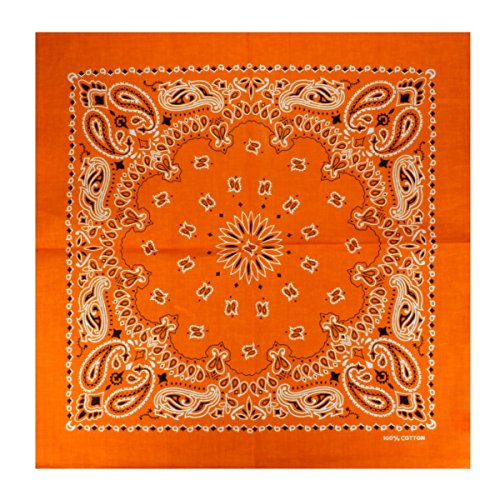 s Bandana mit exclusivem Paisley Muster in orange ()