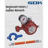 GOK–Regulador de baja presión 1,5kg, 50mbar con manómetro–para construir–Distribución Holly Productos Stabielo–Innovaciones fabricado en Alemania–Holly Sunshade de