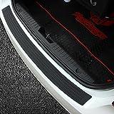 9 MOON® Rubber Black Car Rubber Rear Guard Bumper Protector Trim Cover,Car Sticker fit Universal