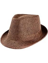 Sombreros de playa unisex para hombre y mujer, plegables, de Fedora Trilby, mujer, Mounter 2-1, café