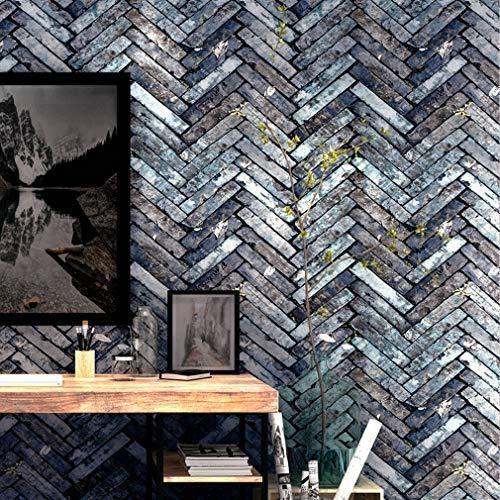 Wallpaper FANGQIAO SHOP Tapete, Restaurant Bekleidungsgeschäft Barbershop Bar Antike Ziegel Wandverkleidungen 3D Dreidimensionale Retro Tapeten (Color : 1)