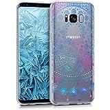 kwmobile Hülle für Samsung Galaxy S8 - TPU Silikon Backcover Case Handy Schutzhülle - Cover klar Arktische Schneeflocke Design Blau Pink Transparent